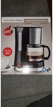 GOURMETmaxx Single Kaffeemaschine Edelstahl Design