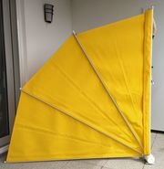 Sichtschutzfächer gelb Ausladung 175 cm