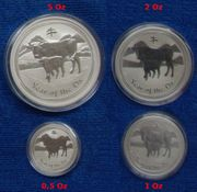 Lunar II Ochse Silber 2009