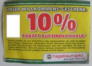 10 hagebaumarkt Gutschein im Markt