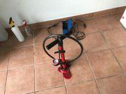 Fahrrad Luftpumpe Standpumpe rot universal