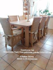 Esszimmertischgruppe Esszimmertisch Sessel Stühle Esstisch