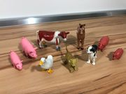 Plastikfiguren Spielzeug Bauernhof 10 Stück