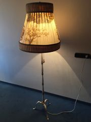 Stehlampe antik Style weiss Messing