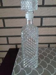 Dekanter GLASKARAFFE Verschluss Glasverschluss Kristallglas