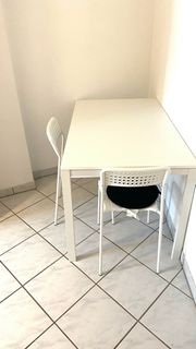 Tisch weiß 125x75 cm 2