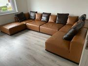 echtleder designer couch