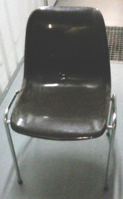 Stuhl 70er Jahre Metallgestell und