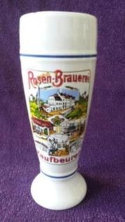 Bierkrug Krug Rosen Brauerei Kaufbeuren
