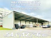 Stahlhalle 54x12x6 8m Lagerhalle Pultdach-Überdachung