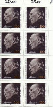 8 x Konrad Adenauer - Katalog-Nr