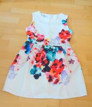 NEU weißes Kleid mit bunten
