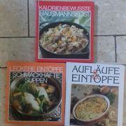3 Kochbücher zu verschenken