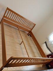 Doppelbett Vollholz in Buche inkl