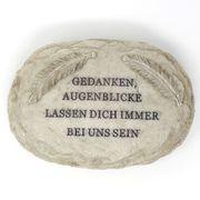 Grabschmuck mit Gravur Inschrift GEDANKEN