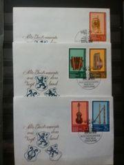 DDR Briefmarken Instrumente Vogtland