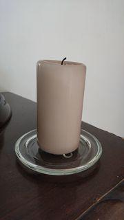 Kerzen-Teller aus Glas