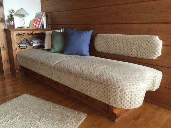 Sofa Couch mit 3 Schubladen
