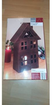 Kerzenhalter Haus aus Metall Dekorkerzenhalter