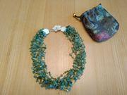 Grüne Halskette Collier
