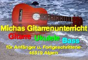 Unterricht Gitarre Bass Ukulele auch