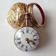 antike Spindeltaschenuhr mit Repetition Gold