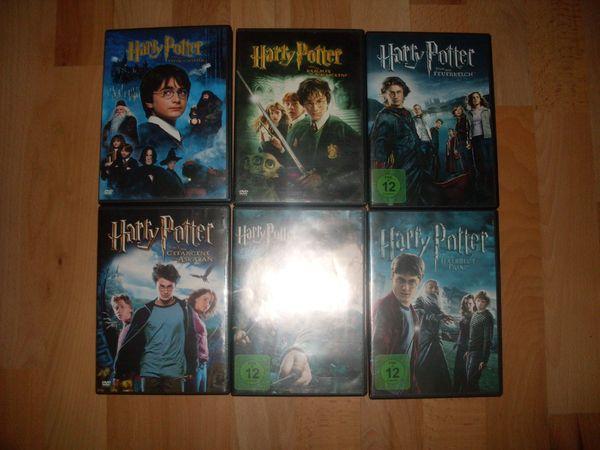 6X HARRY POTTER DVD s
