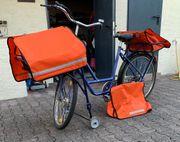 Postrad Transportrad Fahrrad Lastenrad blau