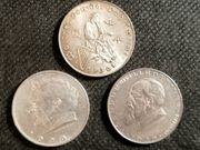 Silber Doppelschillinge - 3 Stück je