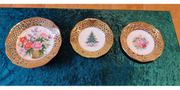 3 Porzellanschalen mit Motivmalerei von