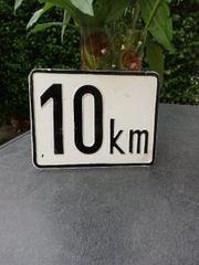 Blechtafel 10km