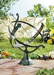 Sonnenuhr Gartendeko Gusseisen Zeitmesser Uhr