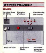 Diehl-secura-alarm Typ 190 electronisch reparieren