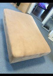 Nubuk Leder Sitzpolster Hocker Couch
