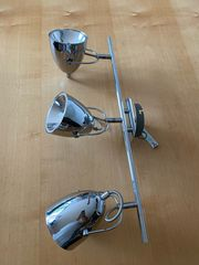 Lampe chrom neuwertig Halogenlampen