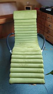 Schaukelliege schwarz inkl Auflage grün