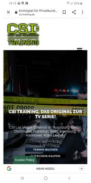 CSI-Training - das Original zur Serie