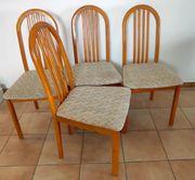 4 Stühle in braun