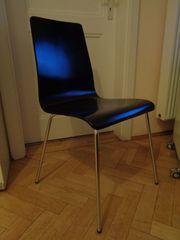 6 klassische Stühle schwarzes Formholz