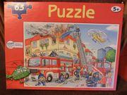 Puzzle Feuerwehreinsatz 63 Teile komplett