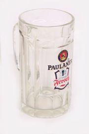 Orig Paulaner München Glaskrug Bierkrug
