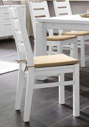 NEU 2er Esszimmer-Stühle Massiv-Holz Landhaus