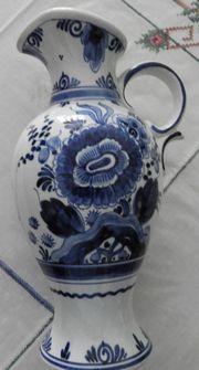 Delfter porzellan Vase mit Henkel -