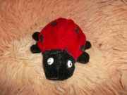 neuwertiger marienkäfer beanie rot-schwarz 13