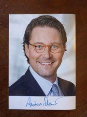 Andreas Scheuer original Autogramm