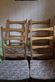 4 Stühle skandinavisch Vollholz robuster