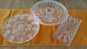 3 Tortenplatten Kuchenplatten Glasplatten