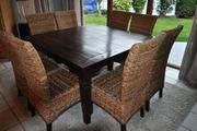 Holztisch im Kolonialstil analog Tisch