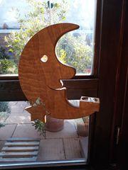 Mond mit Stern und Teelicht