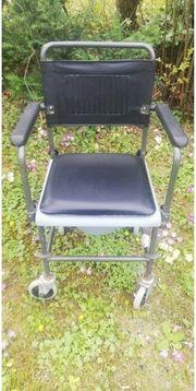 Toiletten-Rollstuhl stabile Ausführung fahrbar